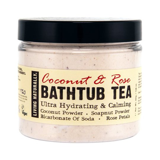 Living Naturally Coconut & Rose Bathtub Tea, 200 g