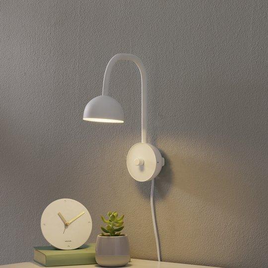 Northern Blush -LED-seinävalaisin, valkoinen