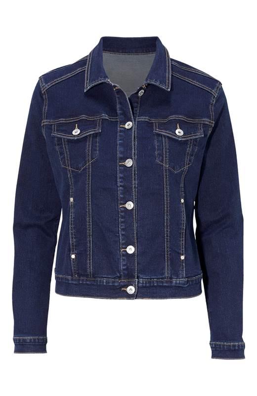 Cellbes Stretchig jeansjacka Mörkblå Denim