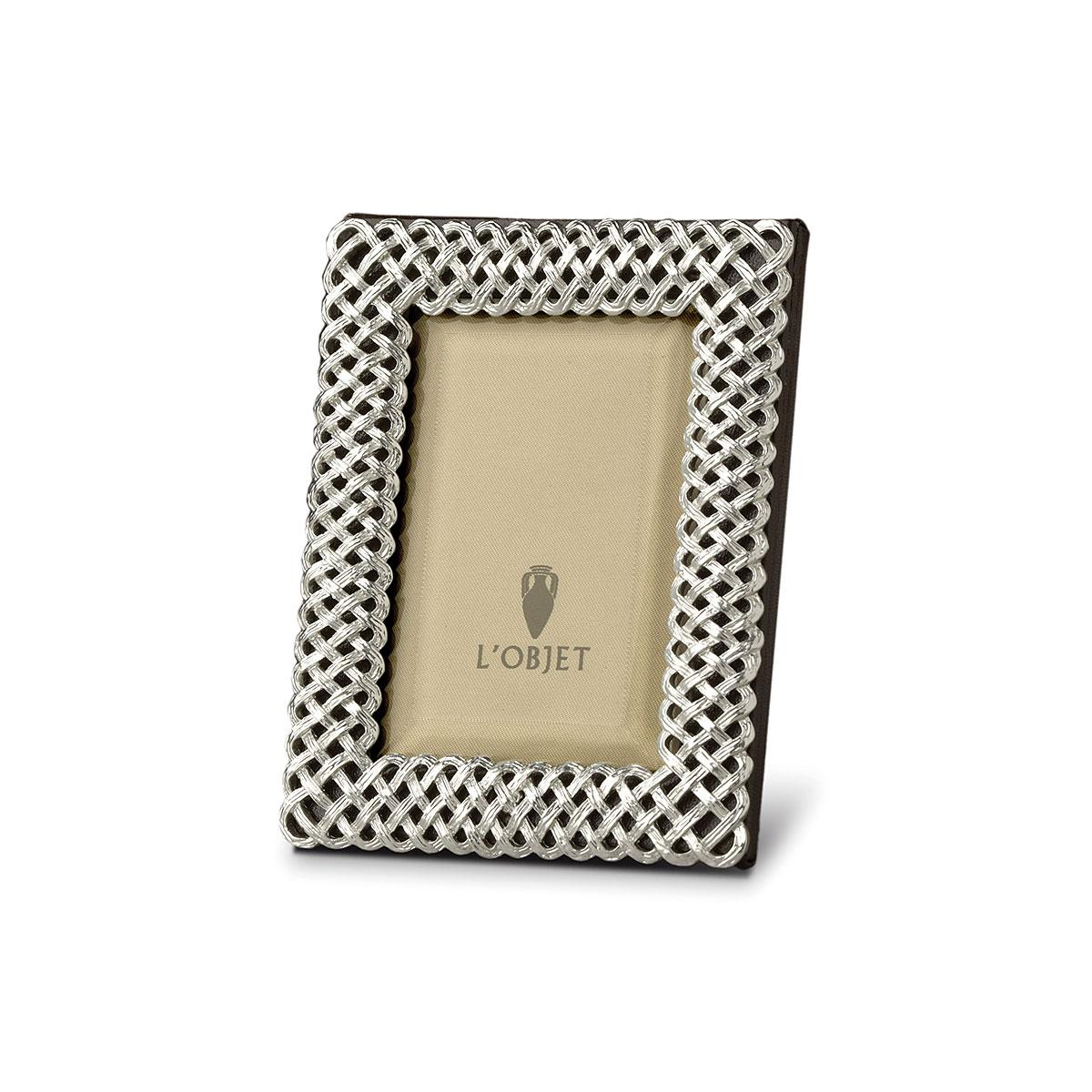 L'Objet I Braid Frame Medium Platinum