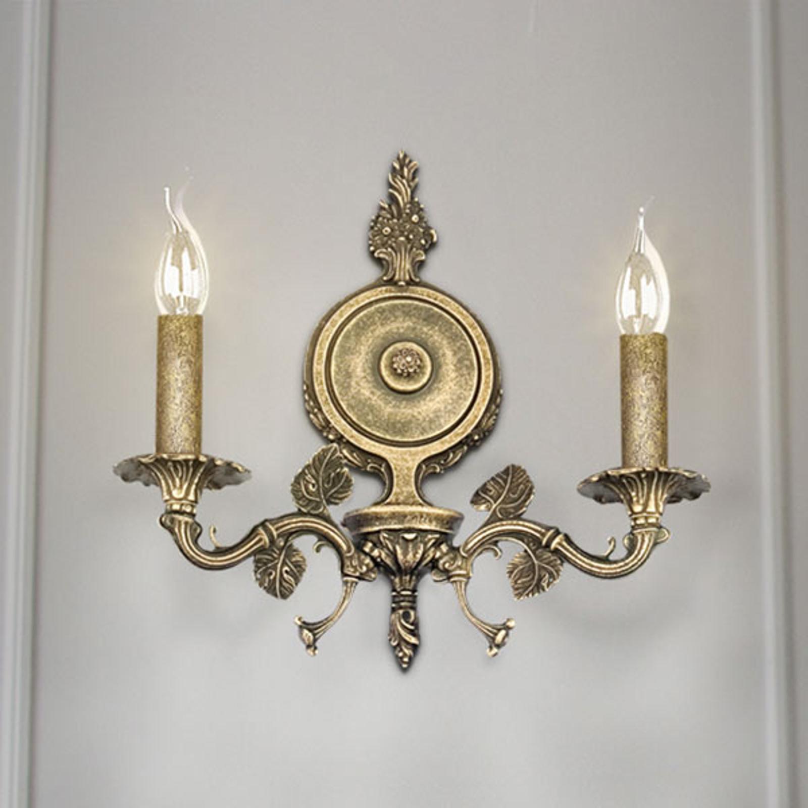 Seinävalaisin Albero, 2 lamppuinen, pronssi