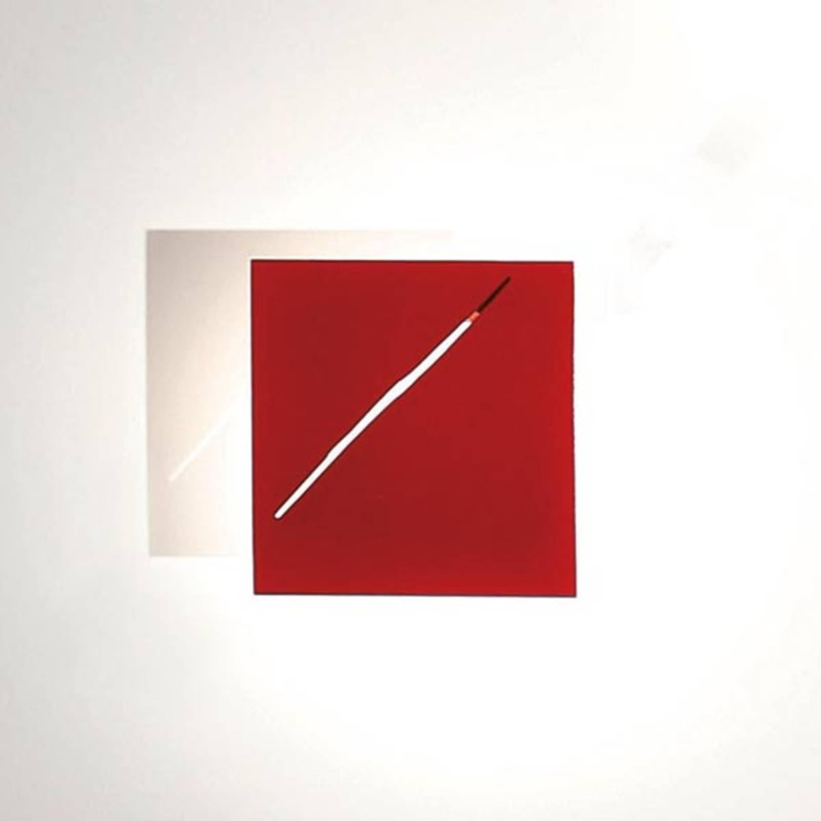Des.agn-design-seinävalaisin LEDeillä, punainen