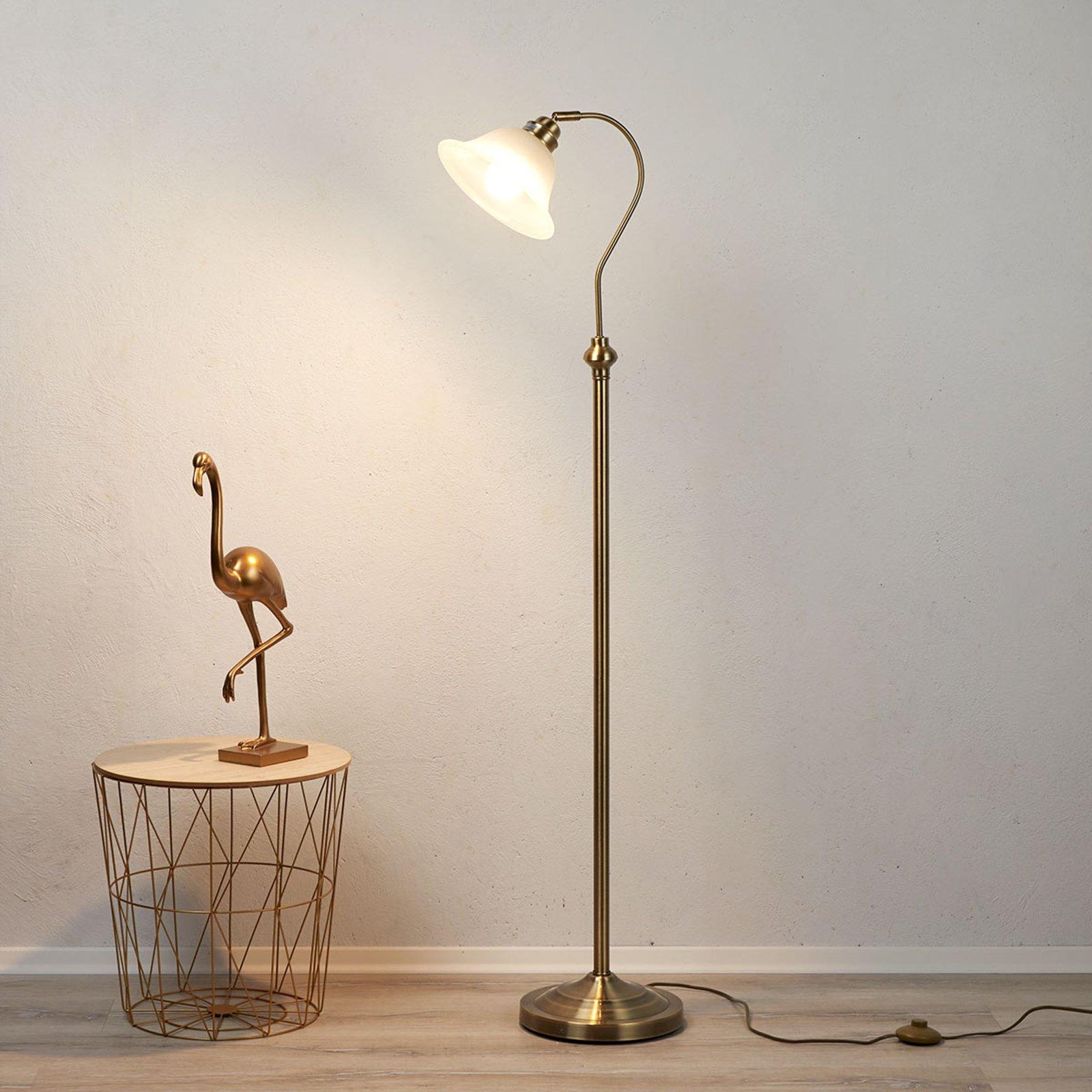 Fortryllende stålampe BJANE, antikkmessing