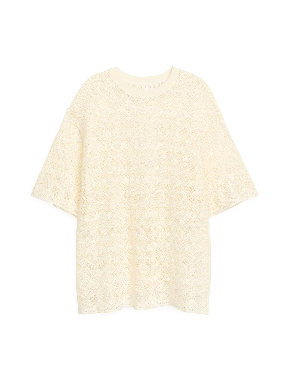 Crochet T-Shirt - White