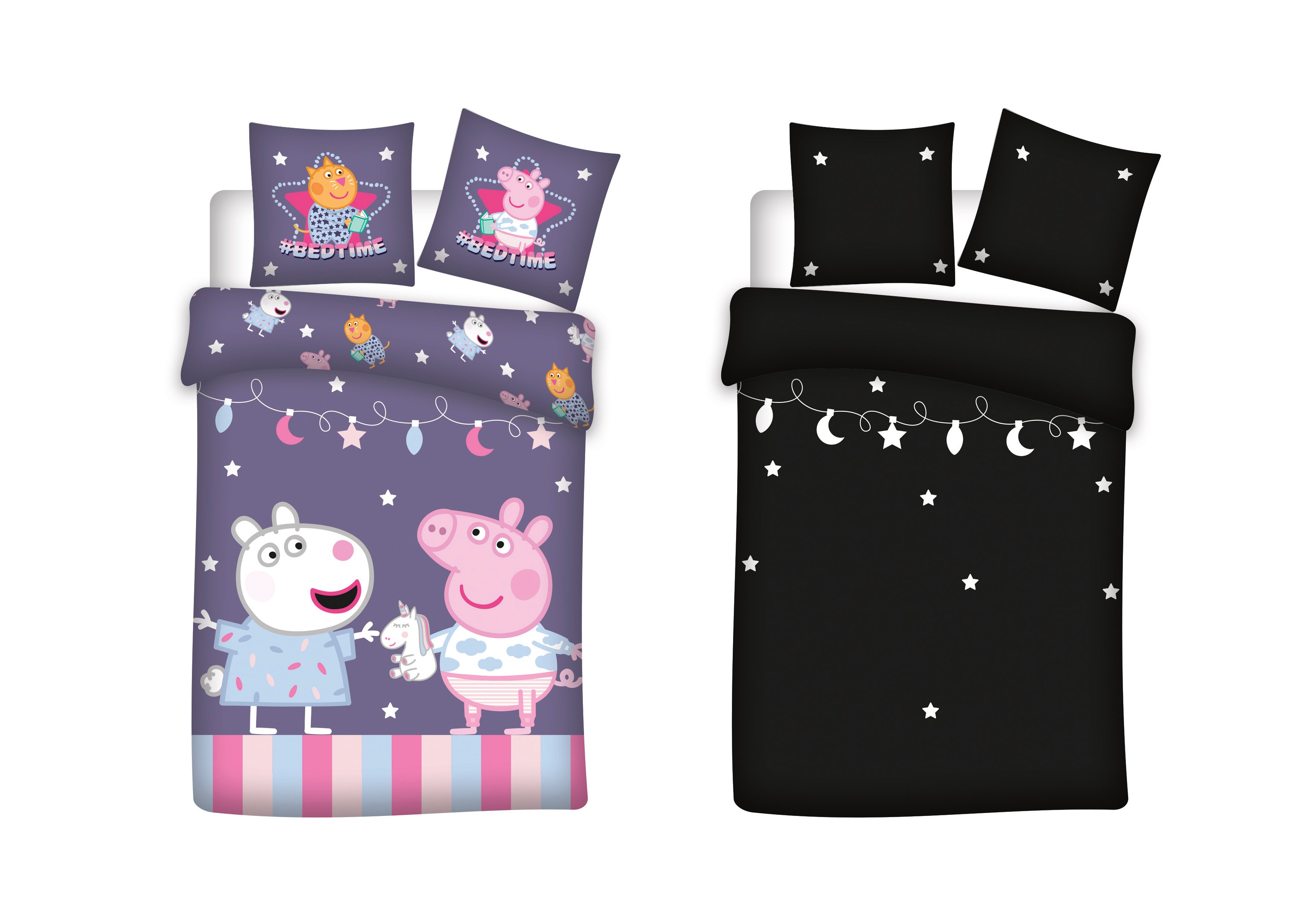 Bed Linen - Junior Size 100 x 140 cm - Glow in the dark - Peppa Pig (1000409)
