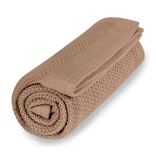 Vinter & Bloom - Filt Soft Grid Blanket ECO - Almond Beige