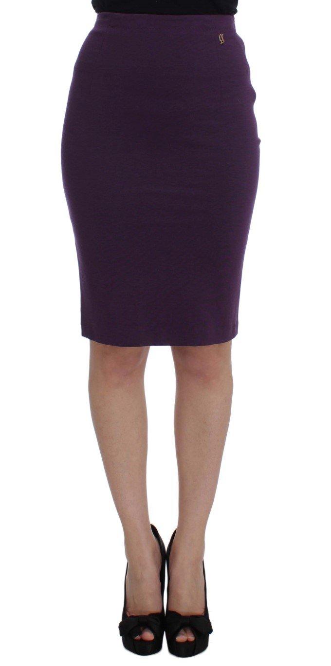 John Galliano Women's Stretch Pencil Skirt Purple SIG30968 - IT40|S