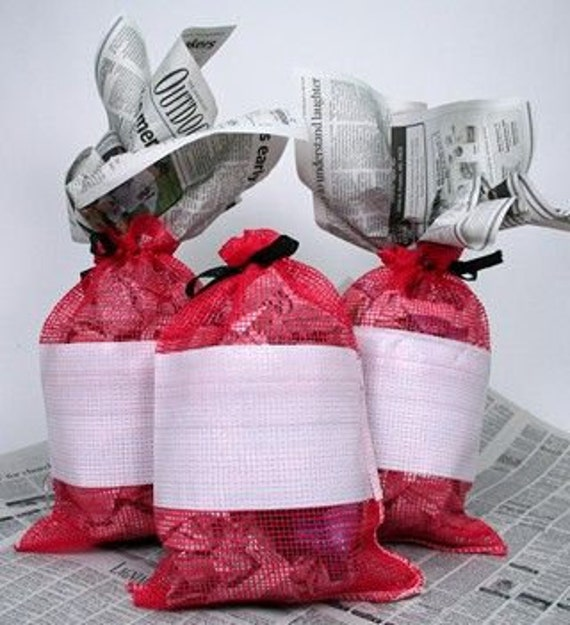 """Red Mesh Sack Sacks Small 