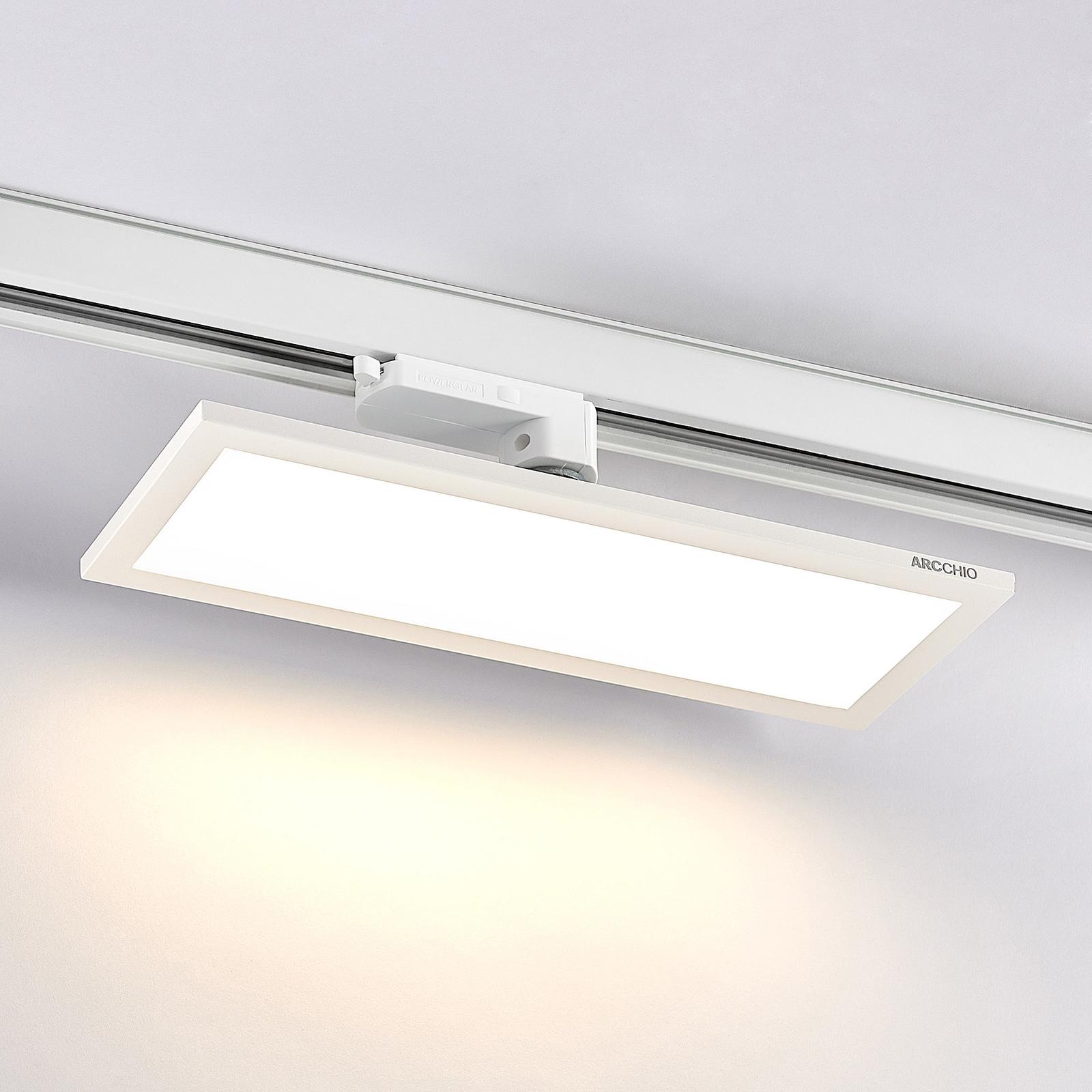 Arcchio Hairis 3-vaihe-LED-paneeli 3000K valkoinen