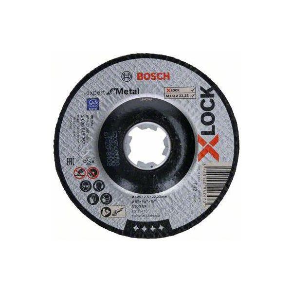 Bosch Expert for Metal Katkaisulaikka X-LOCK, syvennetty leikkaus 125 × 2,5 × 22,23 mm