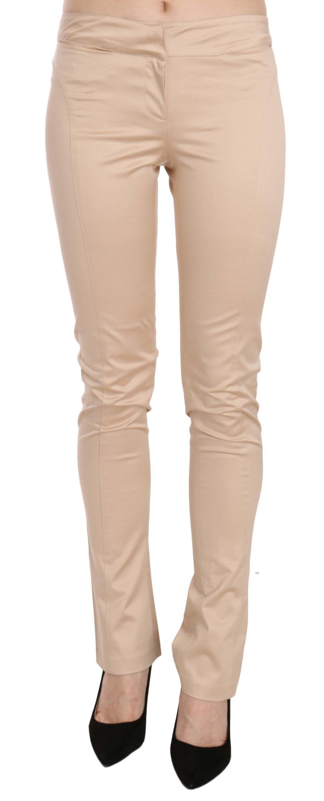 Just Cavalli Women's Low Waist Skinny Trouser Cream PAN70328 - IT38 XS