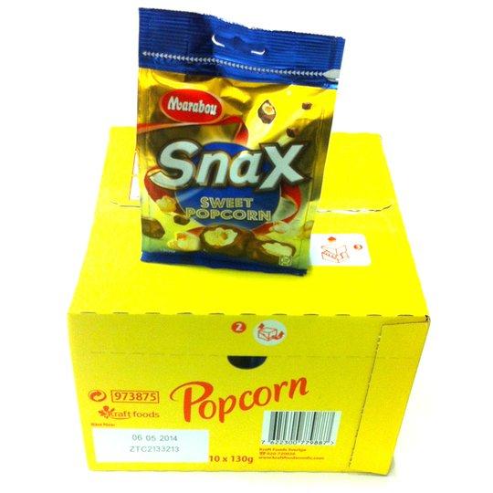 Hel låda Snax Sweet Popcorn - 55% rabatt