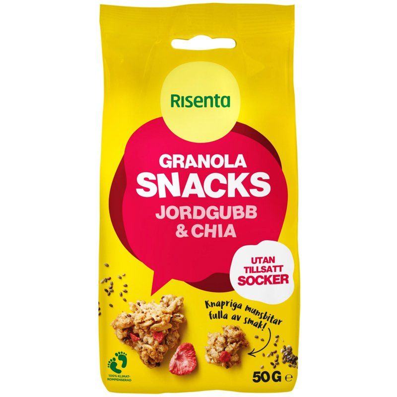 Snacks Granola Jordgubb & Chia - 50% rabatt