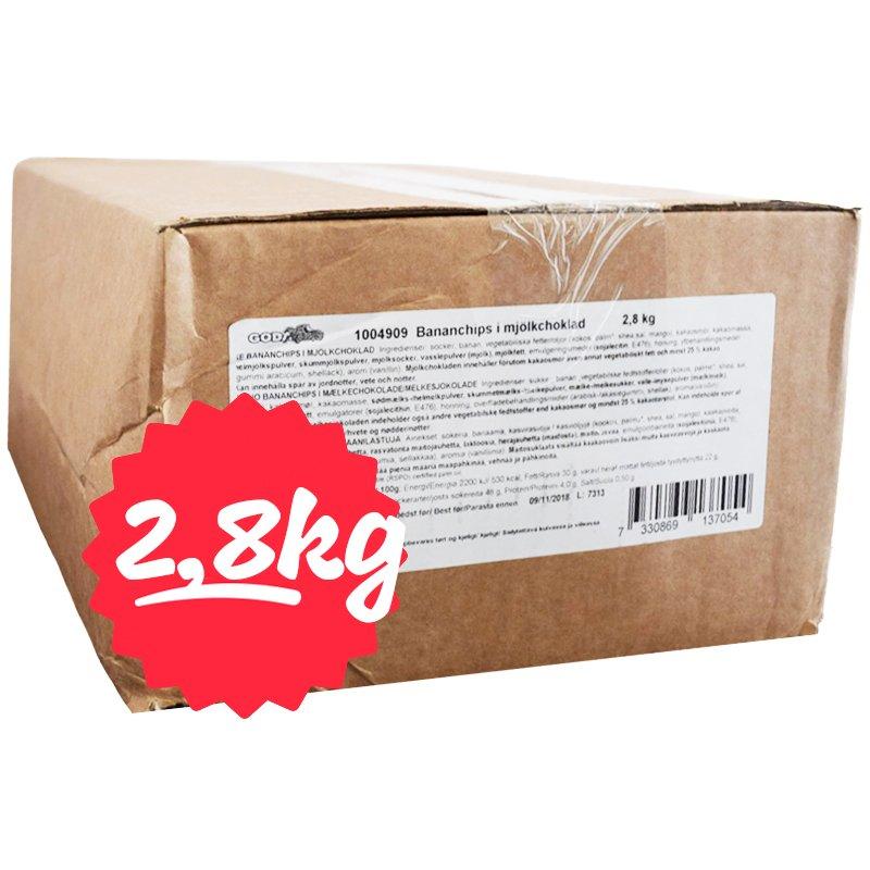 Hel Låda Godis Bananchips 2,8kg - 71% rabatt