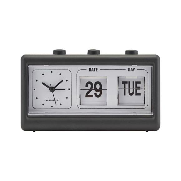 House Doctor - Retro Clock w. Alarm and Calendar - Black (MGEA0403)