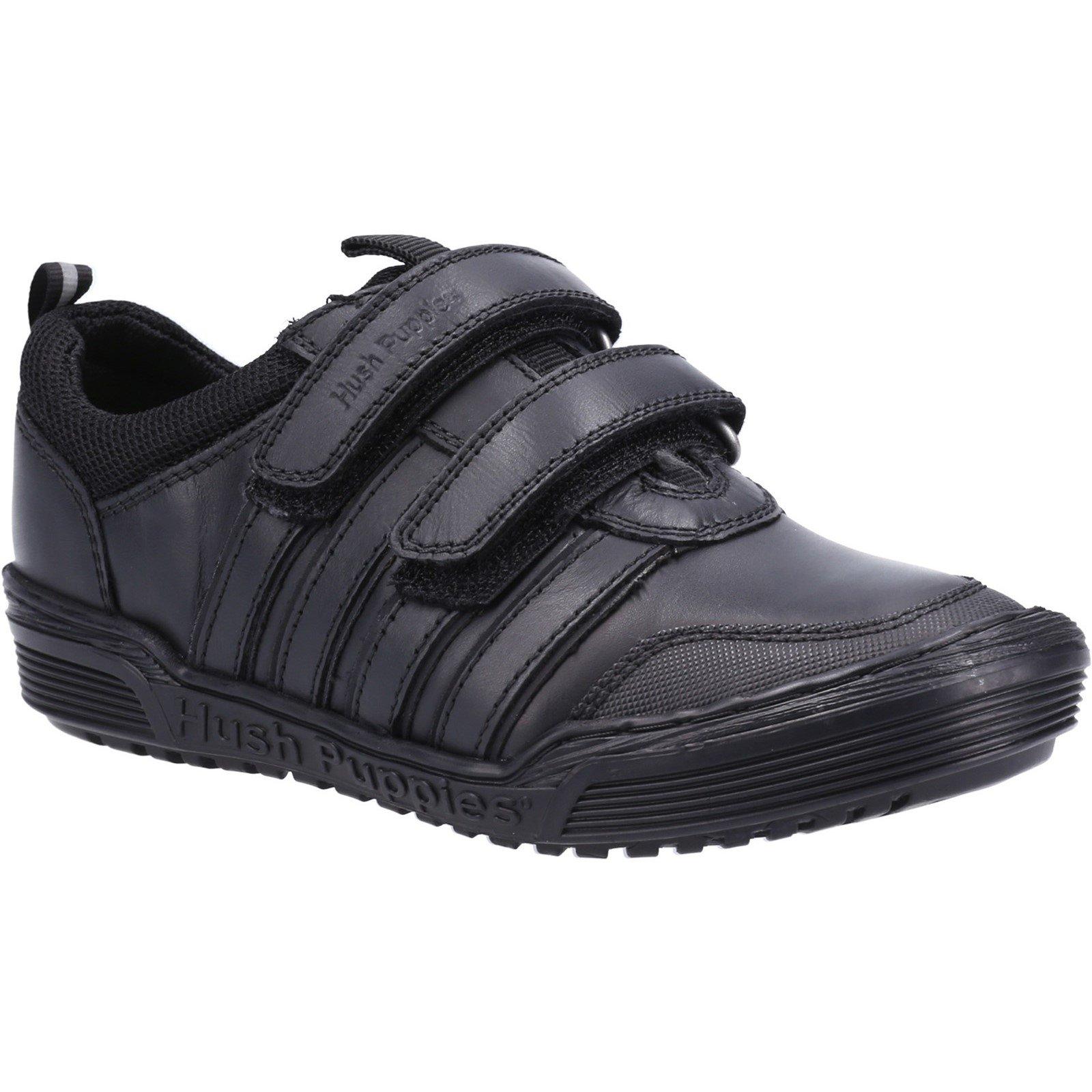Hush Puppies Kid's Jake School Shoe Black 32736 - Black 12