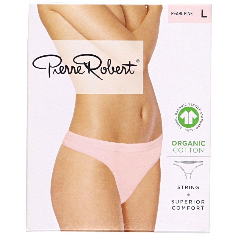 Luomupuuvillaiset stringit pearl pink L - 78% alennus