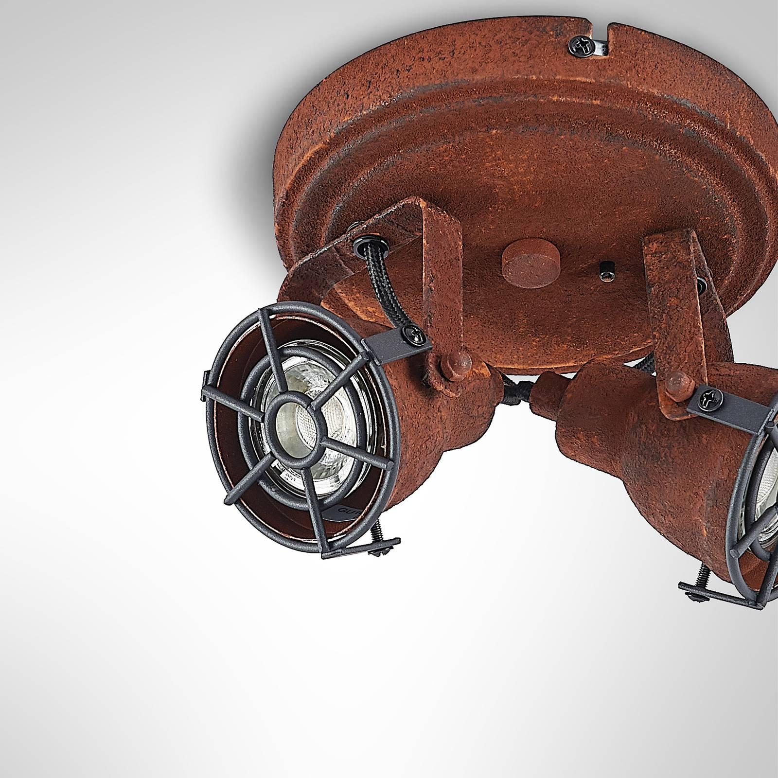 Lindby Scabra -kattokohdevalo, kaksilamppuinen