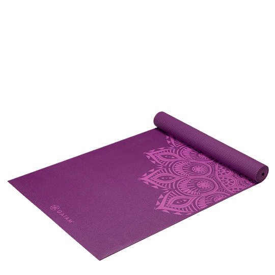 6mm Yoga Mat Purple Mandala