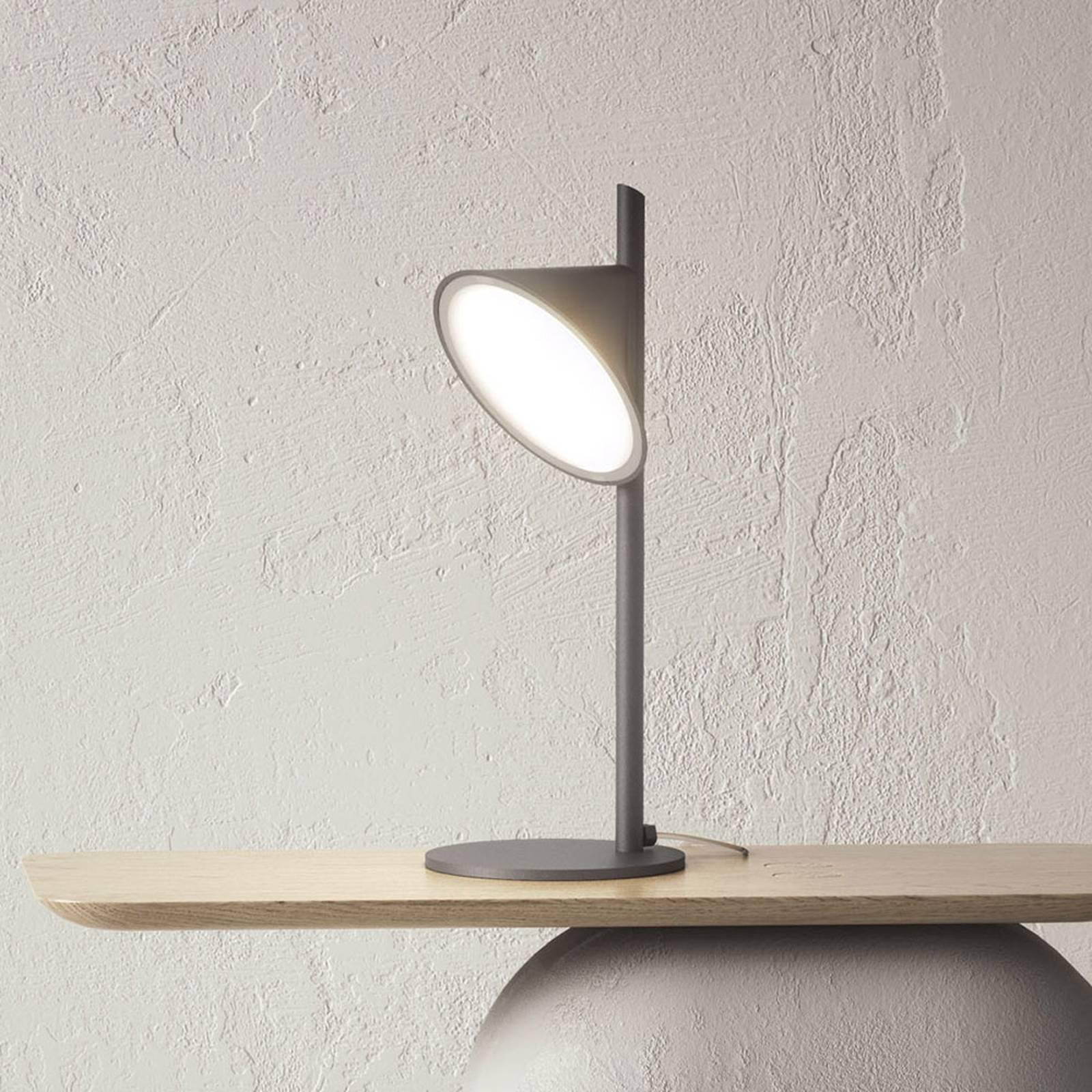 Axolight Orchid LED-pöytälamppu, tummanharmaa