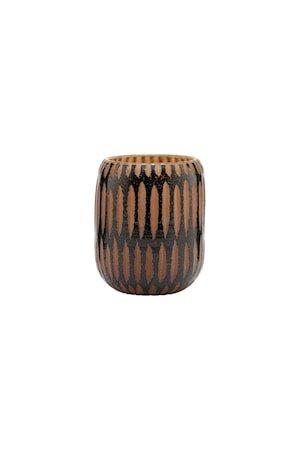 Vase Pimpri Svart/Brun 12 cm