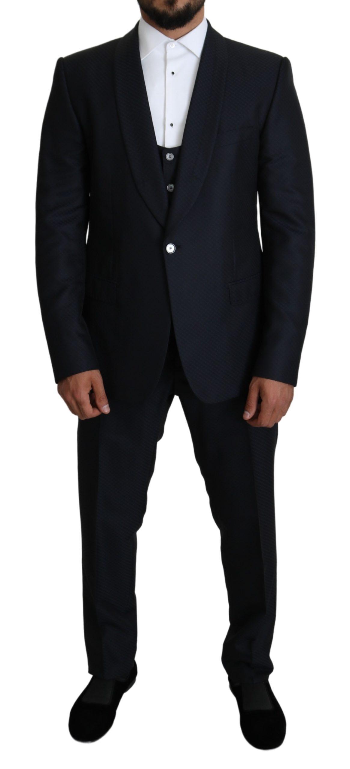 Dolce & Gabbana Men's 3 Piece MARTINI Suit Black KOS1820 - IT48 | M