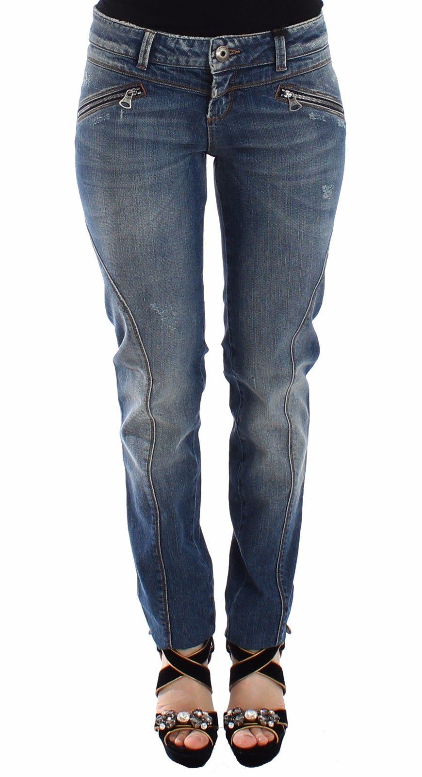 Ermanno Scervino Women's Slim Jeans Blue SIG12687 - IT40