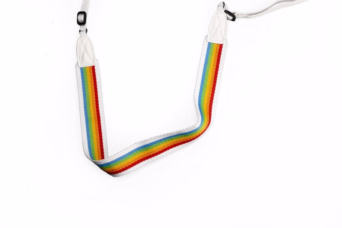 Polaroid - Camera Strap Flat For Polaroid Cameras - Rainbow White