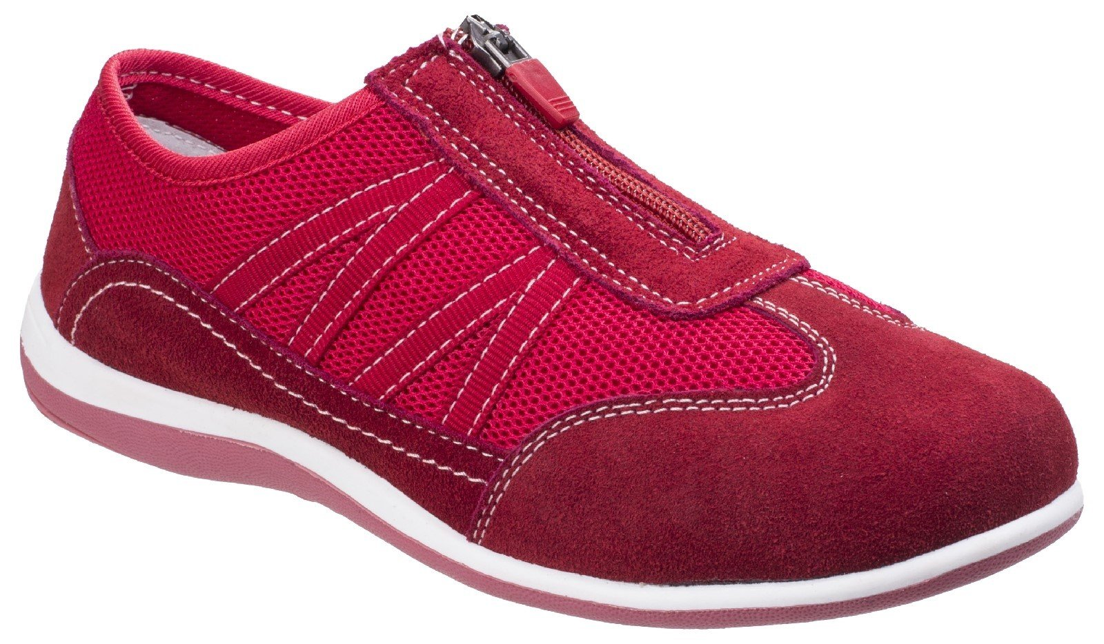 Fleet & Foster Women's Mombassa Comfort Trainer Various Colours 26306-43902 - Red 3