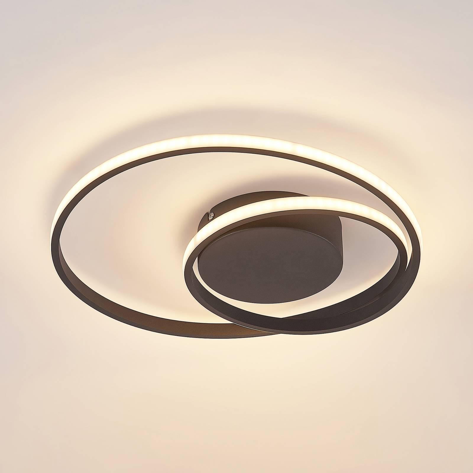 Lindby-LED-kattovalaisin Emisua CCT musta