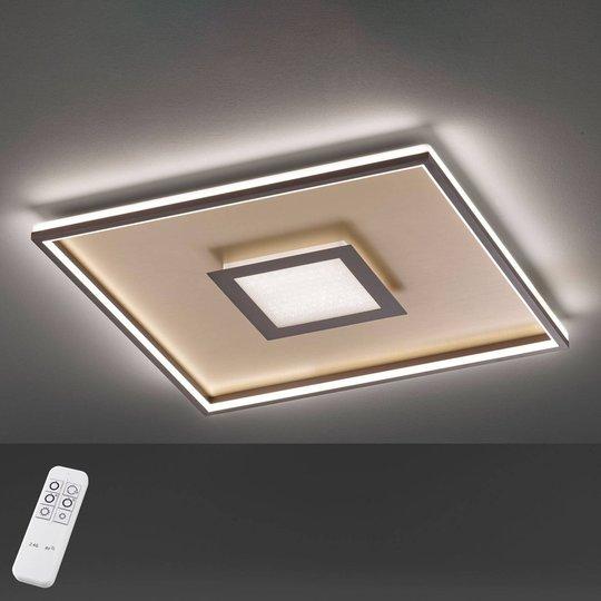 Bug-LED-kattovalo, neliönmuot., ruoste, 60x60cm