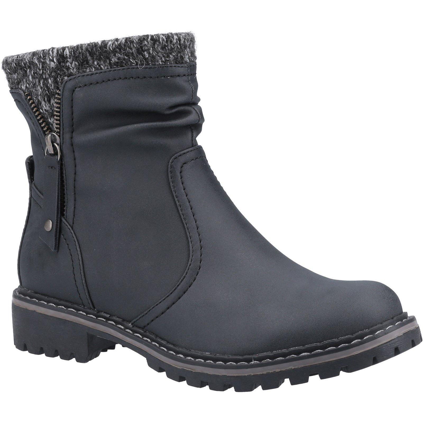 Divaz Women's Niki Fleece Lined Boot Various Colours 33026 - Black 3