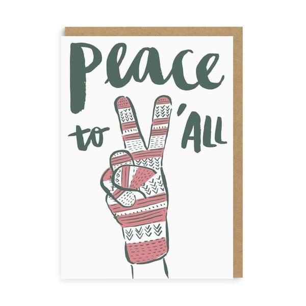 Peace & Glove Christmas Card