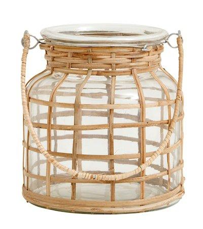 Bamboo Lysestake Glass Small