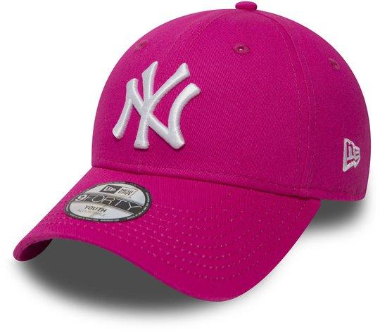 New Era MLB NYY League Basic 940 Caps, Hot Pink, 4-6 År