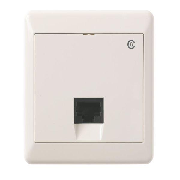 Elko UTP C6 Modulæruttak utenpåliggende, hvit 1 x 8 K6