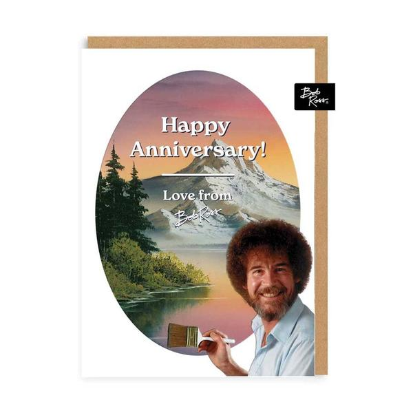 River Mountain Happy Anniversary Greeting Card