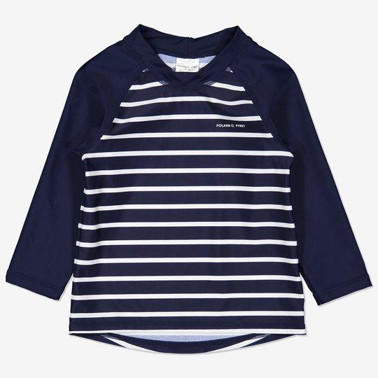 Stripet uv-trøye baby mørkblå