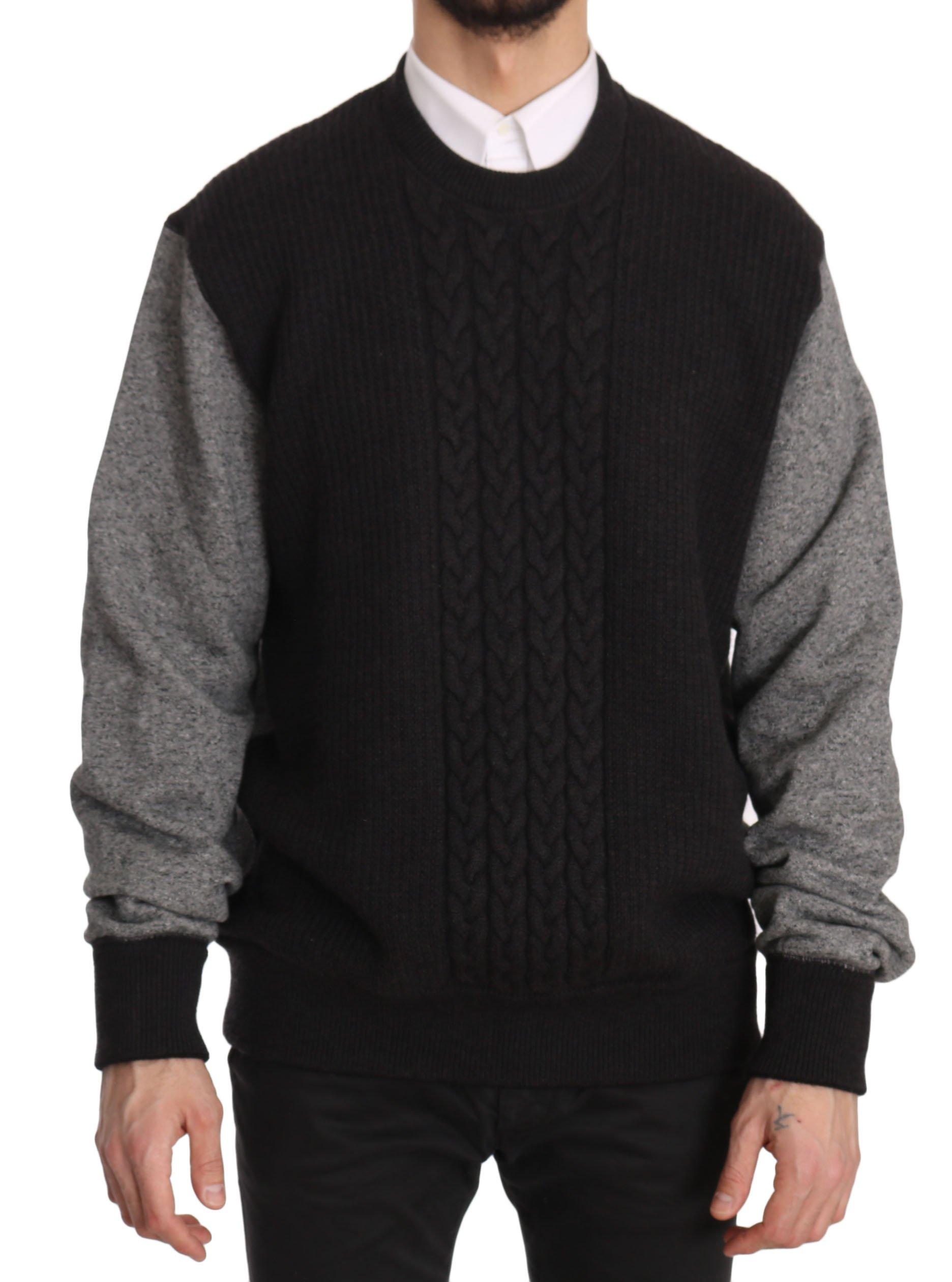 Dolce & Gabbana Men's Sweater Black and Gray TSH3581 - IT56   XXL