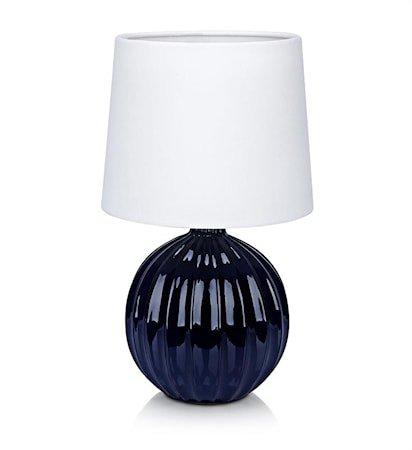Melanie bordslampe 1L Blå/Hvit