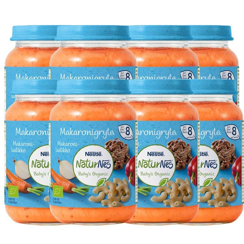 Lastenruoka Kasviksia, Pastaa & Naudanliha 8kpl - 20% alennus