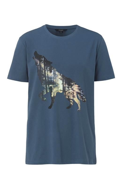 Cellbes Bekväm t-shirt i trikå Gråblå