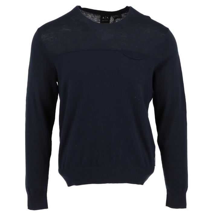 Armani Exchange Men's Sweater Blue 308398 - blue S