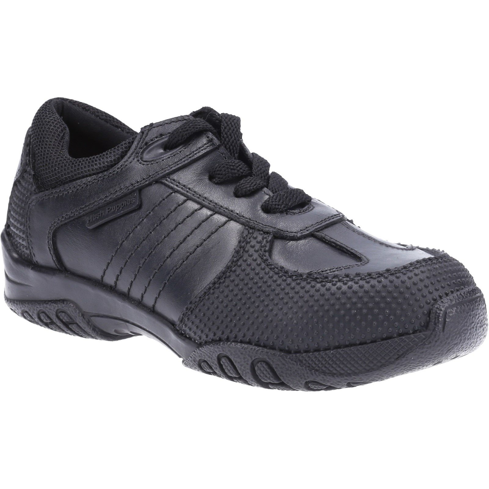 Hush Puppies Kid's Jezza Junior School Shoe Black 32587 - Black 12