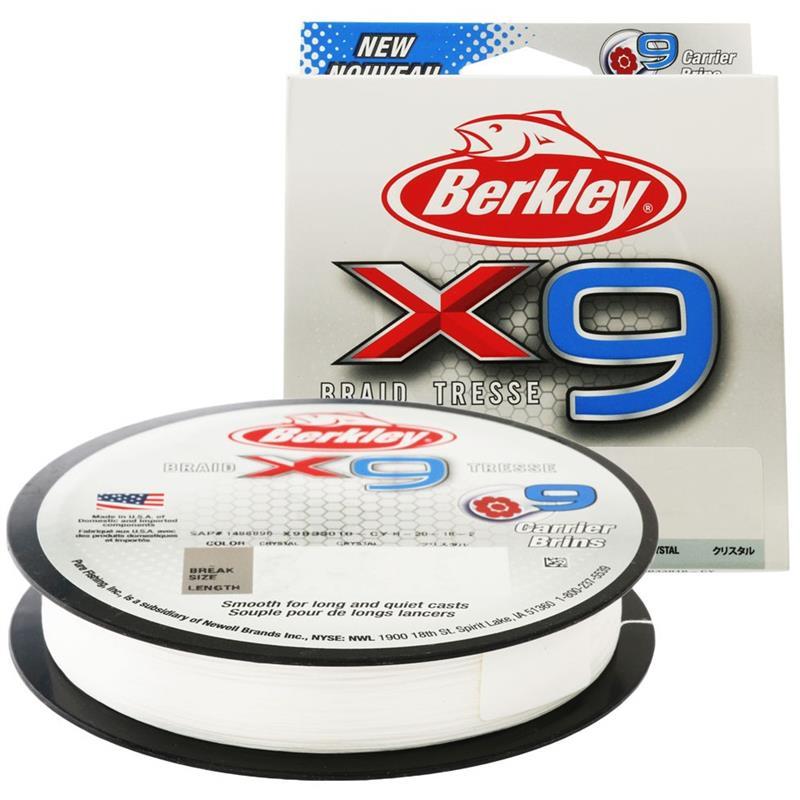 Berkley X9 Braid 300m 0,25 mm Crystal