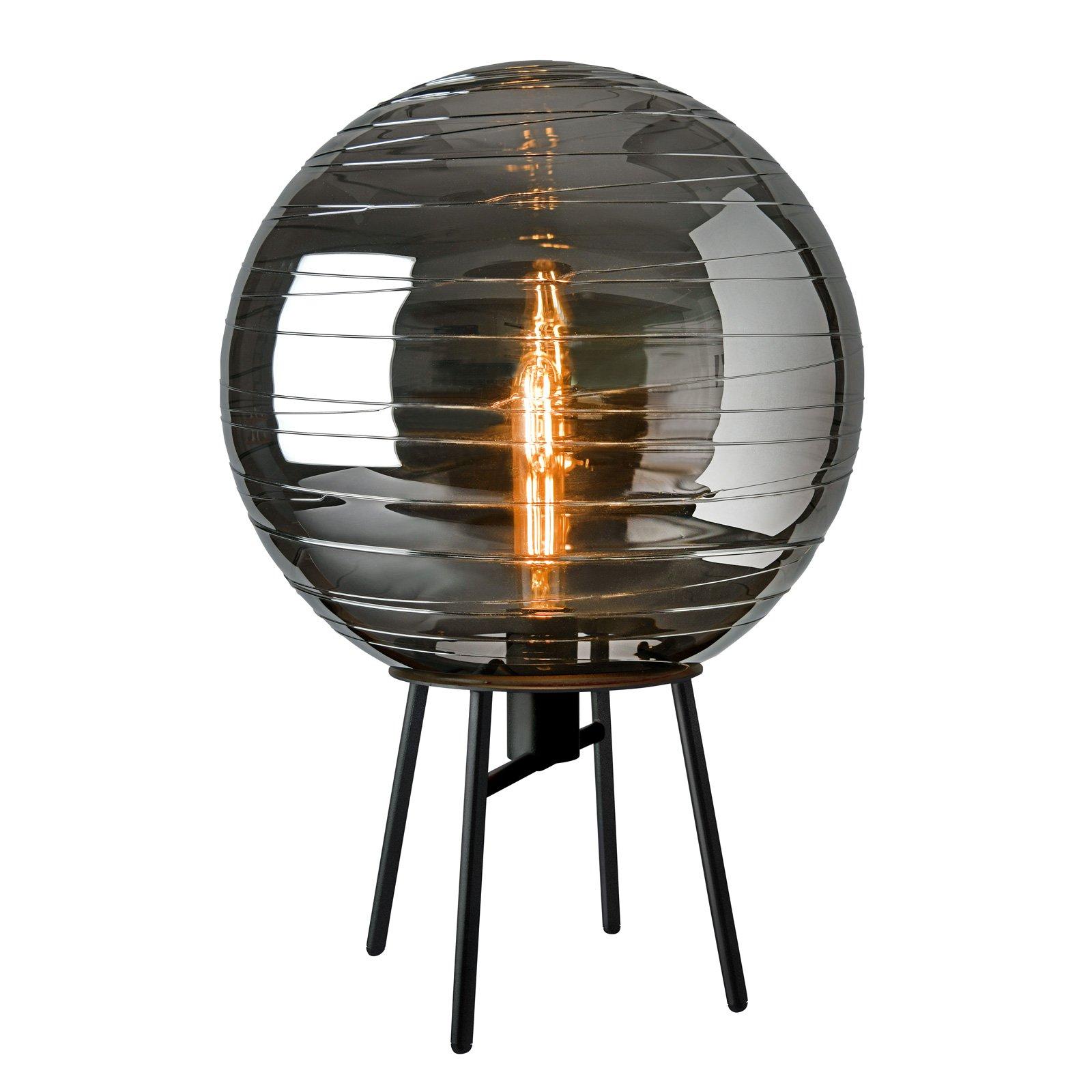Bordlampe Lantaren, glass røykgrå