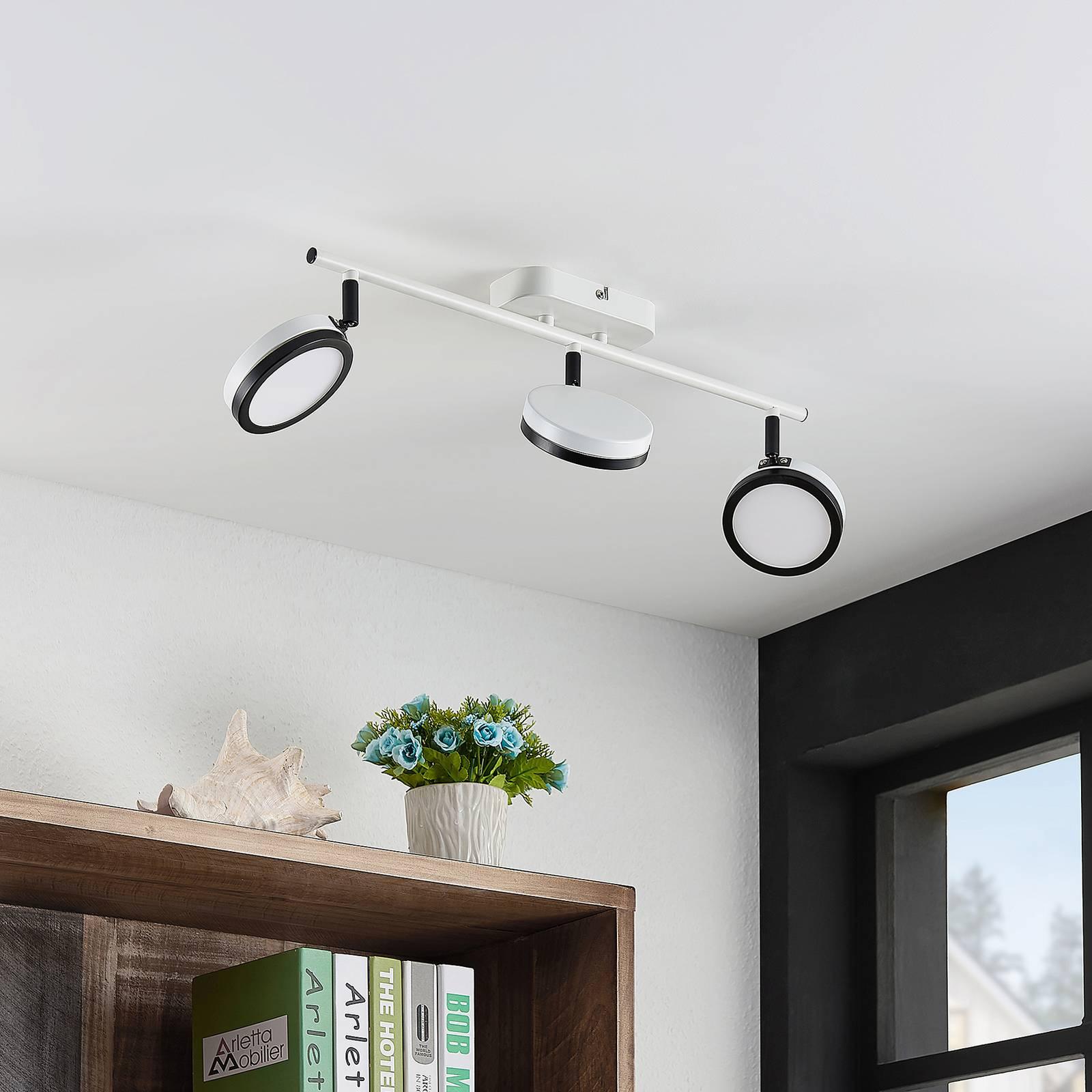 Lindby Vesim -LED-kohdevalaisin, 3-lamppuinen