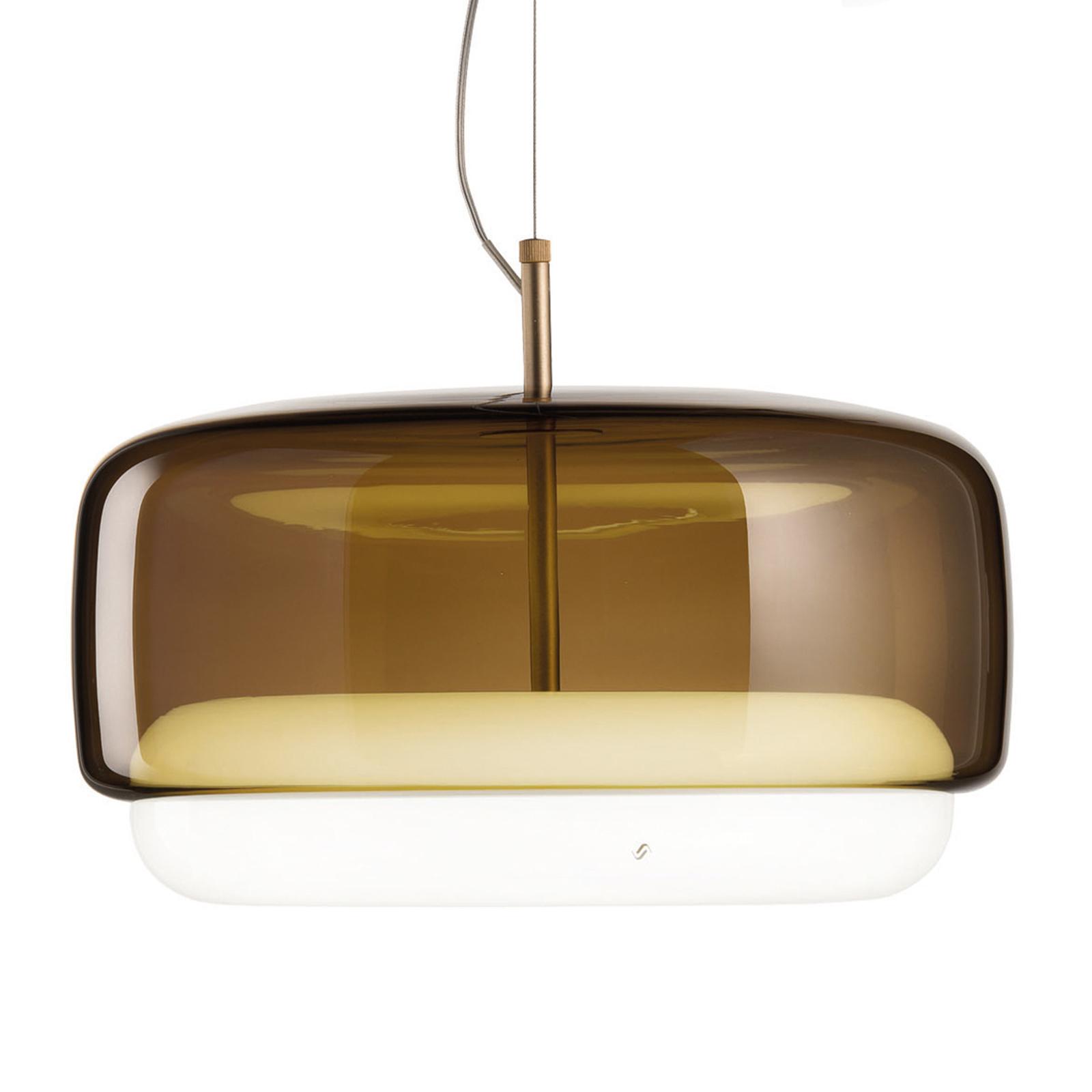 LED-riippuvalaisin Jube SP G, ruskea/valkoinen