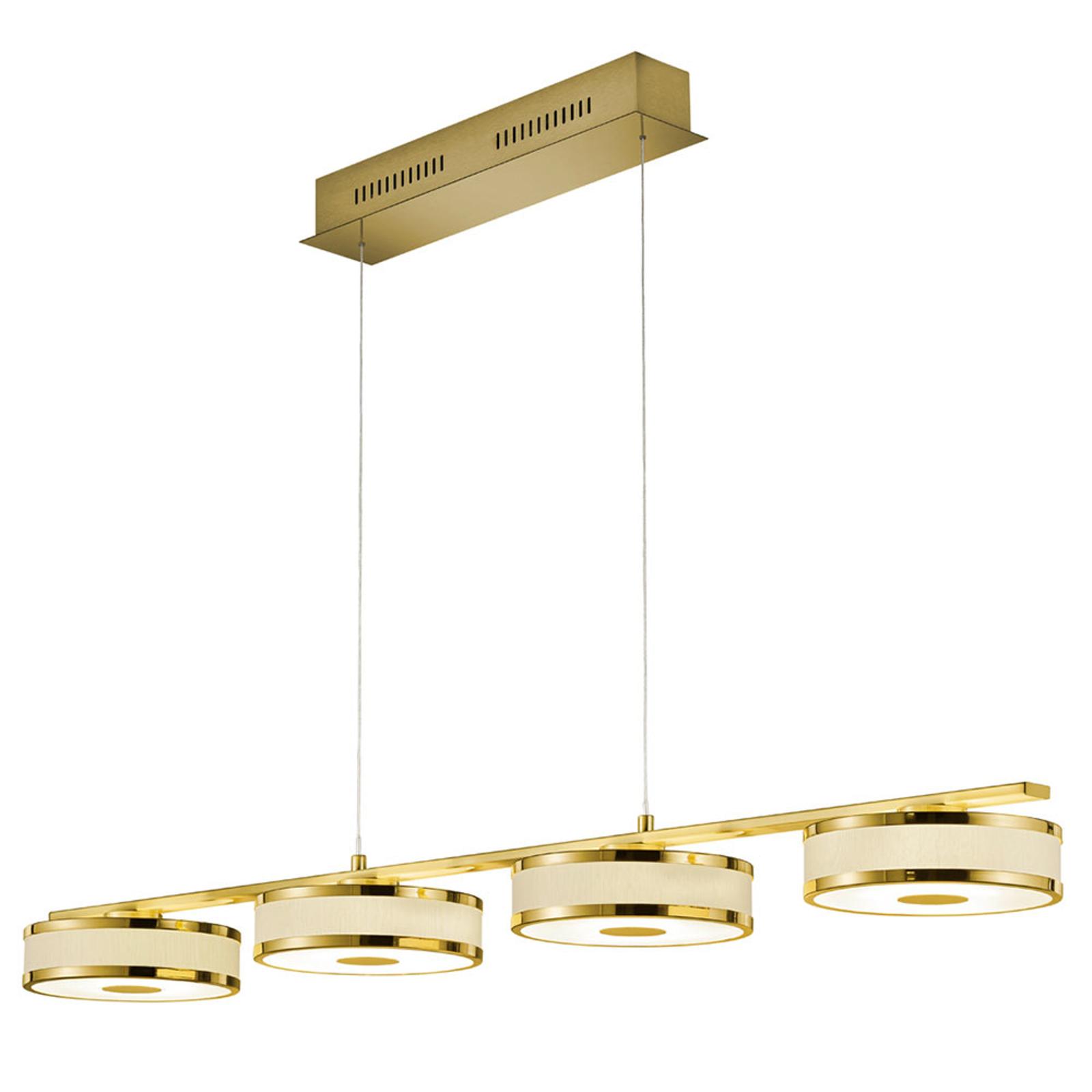 Agento-LED-riippuvalaisin, messinkiä, 4-lamppuinen