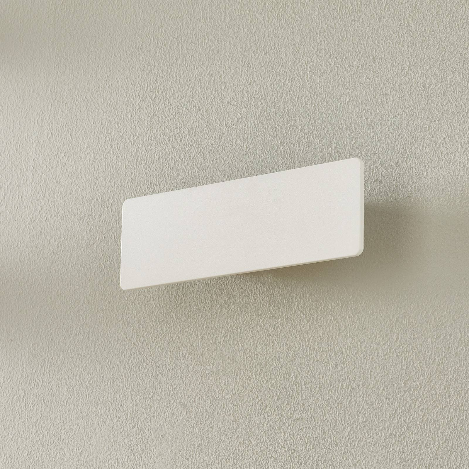 LED-vegglampe Zig Zag, hvit, bredde 29 cm